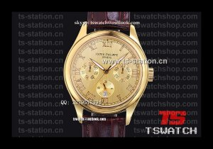 PP18720 - Patek Complications Gold Dial YG LT High Grade Cal.324S