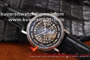 PATEK PHILIPPE POWER RESERVE-DATE SS/BLACK