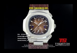 PA17339 - Nautilus Brown Dial SS LT Japan Quartz