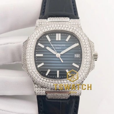 PP22897 - Nautilus Jumbo 5711 40mm Full Diamond SS Croco A324