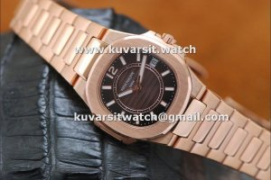 1:1 REPLICA PATEK PHILIPPE NAUTILUS ROSE GOLD / BROWN SWISS QUARTZ FROM V6 FACTORY