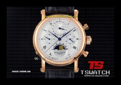 PA18179 - Patek Complications White RG LT Lemania Hand Wind