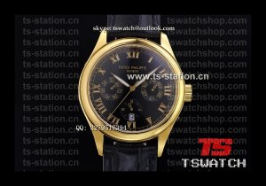 PP18723 - Patek Complications Black Dial YG LT High Grade Cal.324S