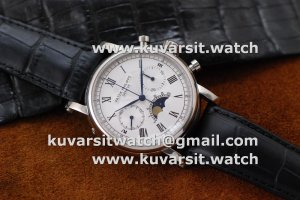 PATEK PHILIPPE CHRONOGRAPH MOONPHASE SS/WHITE