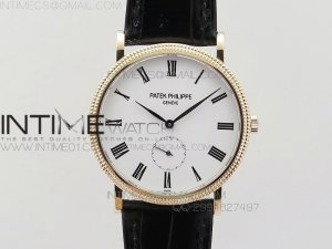 PP@6 RG Best Edition White Dial on Black Leather Strap