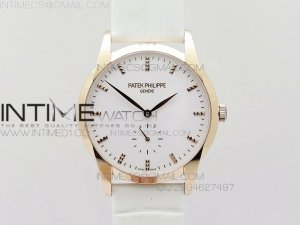 PP@6 RG Best Edition White Dial on White Leather Strap