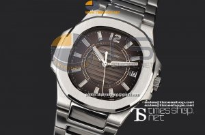 PA5260D4 - Ladies Nautilus Brown Dial SS/SS - Swiss Quartz