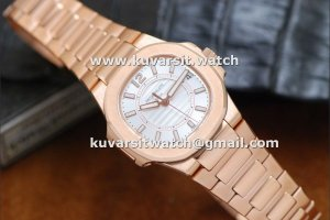 1:1 REPLICA PATEK PHILIPPE NAUTILUS ROSE GOLD / WHITE SWISS QUARTZ FROM V6 FACTORY