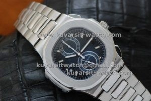 PATEK PHILIPPE NAUTILUS CHRONOGRAPH TRAVEL TIME 5990A BLUE..Q.C